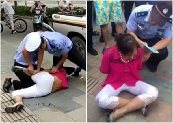 沪警摔妇女事件
