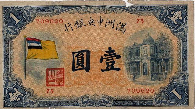 满洲国发行之货币,来源:维基百科