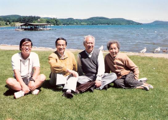 1993年苏晓康和王若水,司马璐,戈扬在美国