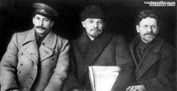 斯大林,列宁,托洛茨基