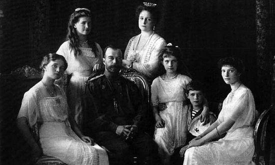 俄国末代沙皇尼古拉二世的一家