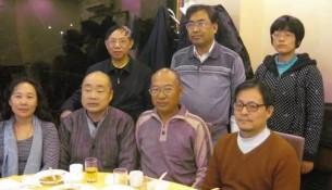 前排左起:李金芳、查建国、朱虞夫、李海;后排左起:胡石根、康玉春、朱XX