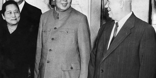宋庆龄、毛泽东、赫鲁晓夫