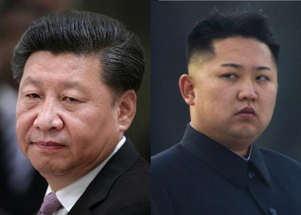 左图:习近平;右图:金正恩
