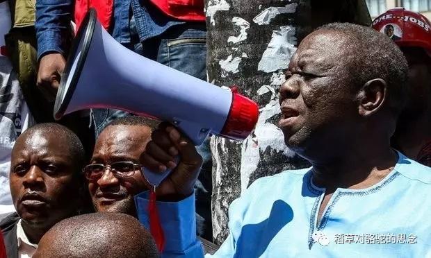 津巴布韦人民在抗议