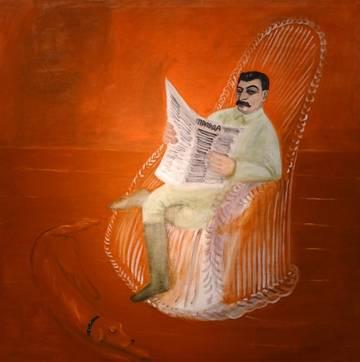 油画 2 格奥尔吉·鲁布廖夫: 《约瑟夫·斯大林肖像》 1936年