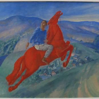 油画3 彼得罗夫·沃德金:《幻想》1925年