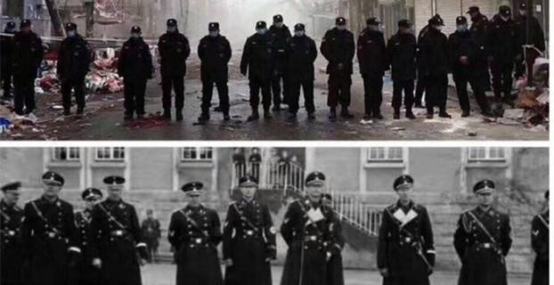 """网上北京驱逐""""低端人口""""与纳粹""""水晶夜""""照片并列比对"""