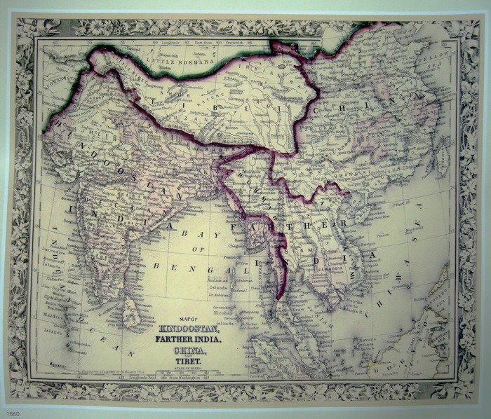 历史地图上的西藏与中国