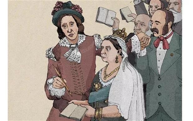 维多利亚女王向艾略特求签名