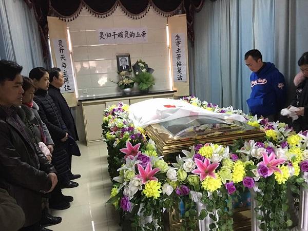 罹患肝癌晚期病逝的中国人权律师李柏光在江苏以基督教仪式举殡1