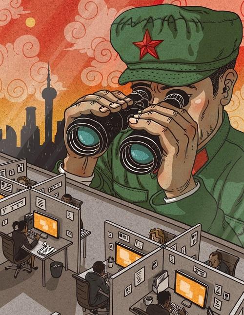 中国共产党正一锤子一镰刀地步步深入中国人的日常生活