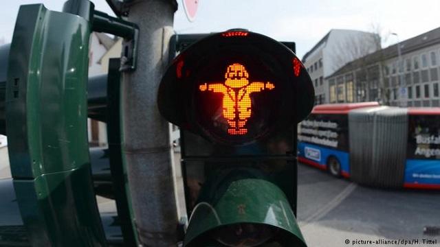 特里尔的红绿灯小人