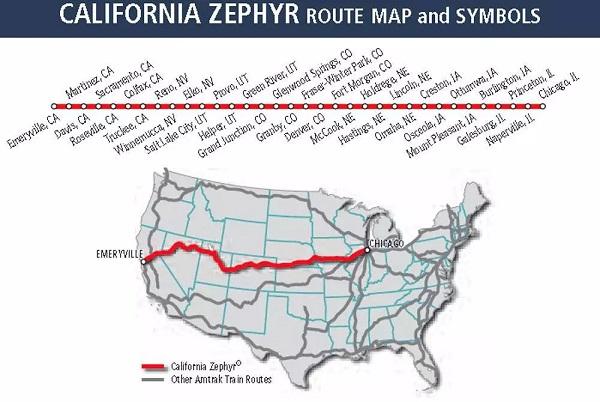 美铁手册上的线路图