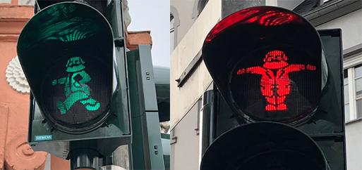 005-特里尔市步行街马克思红绿灯