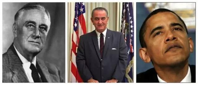 罗斯福、约翰逊和奥巴马