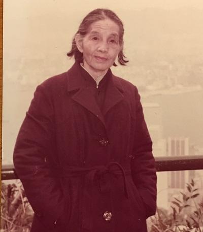 何来保的外孙女、作者金钟的母亲皇甫道安。1983年在香港。