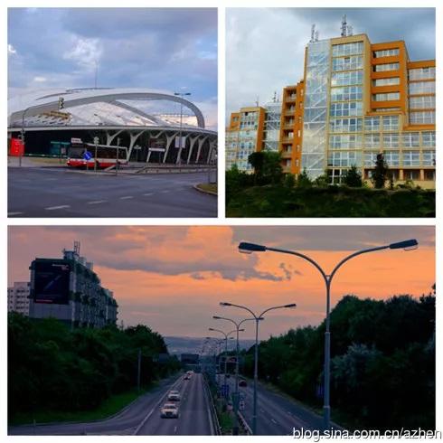 布拉格新区的建筑和街景