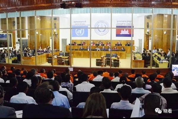 柬埔寨特别法庭庭审现场