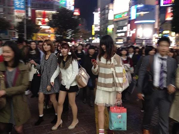 平成年代的涩谷街头