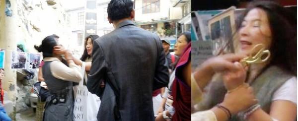 现场藏人拍摄的图片