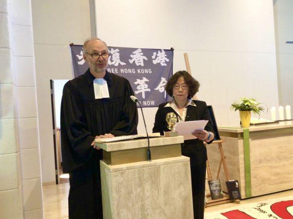 纪念刘晓波逝世三周年的纪念活动在德国肯彭市举行 2020年7月13日 © 民主中国阵线/田牧